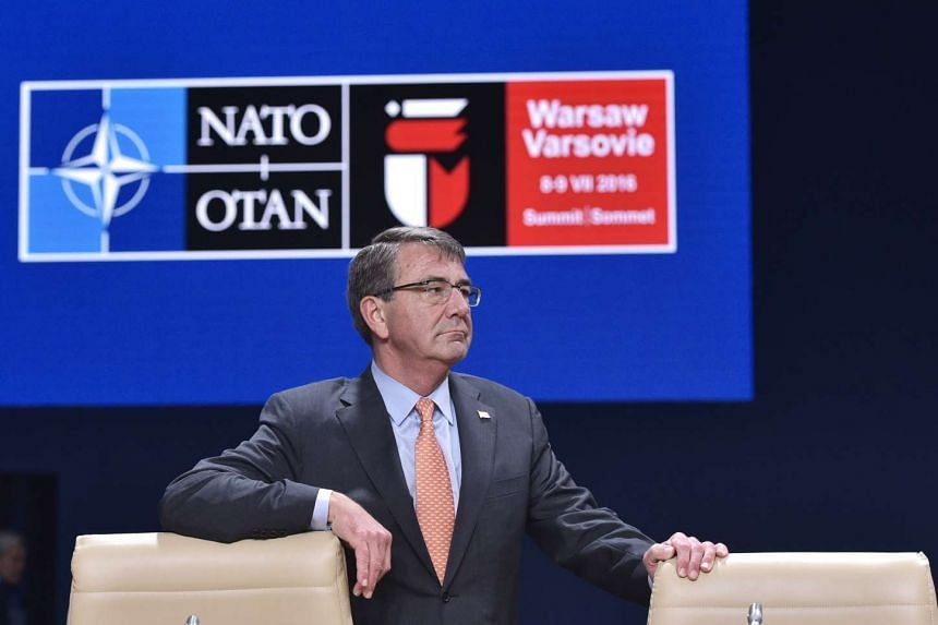 US Defense Secretary Ashton Carter at a Nato-Ukraine Commission meeting during the second day of the NATO Summit in Warsaw on July 9, 2016.