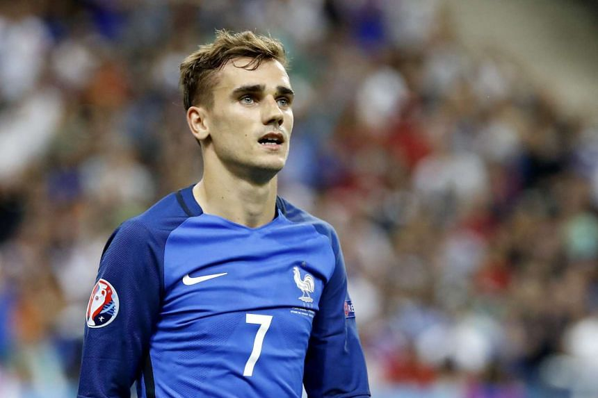 Antoine Griezmann reacts during the Uefa Euro 2016 final match between Portugal and France  in Saint-Denis, France, on July 10, 2016.