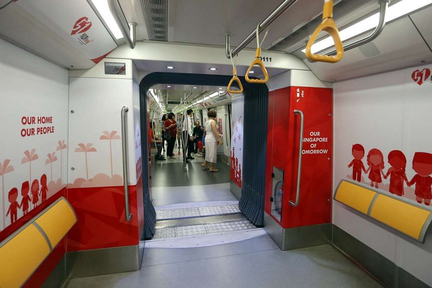 LTA has launched the NDP themed trains along the Downtown Line on Monday (July 11).