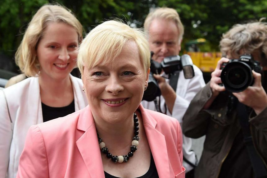 British Labour Shadow Secretary of State for Business, Angela Eagle arrives at the launch of her leadership campaign in London, on July 11, 2016.