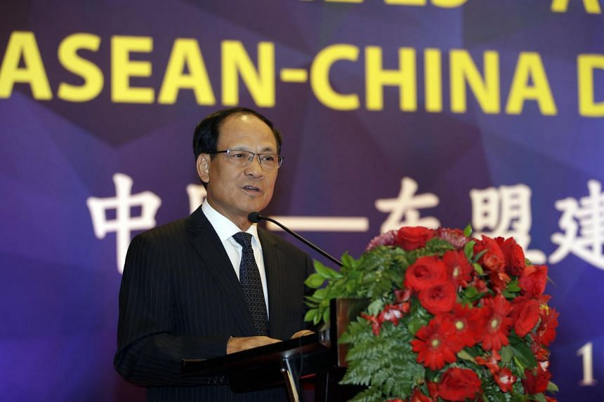 Asean Secretary-General Le Luong Minh delivers his speech during the 25th Annivesary of Asean-China Dialogue Relation in Jakarta on July 11, 2016.
