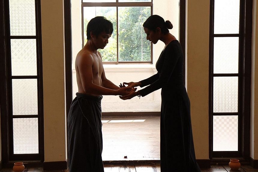 Rianto (left) and Sandhya Suresh navigate the theme of death in Closing Moments.