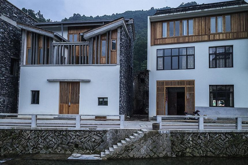 A rural regeneration project in the village of Wencun (above), near Hangzhou, by architect Wang Shu.