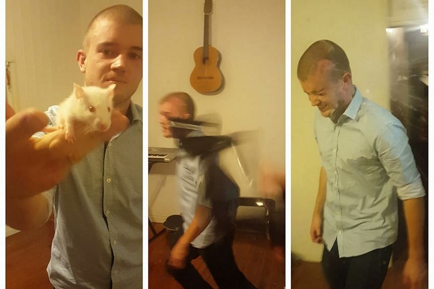 """Matthew Maloney, known as """"Mad Matt"""", filmed himself biting the head off a live rat and posting the video on Facebook."""