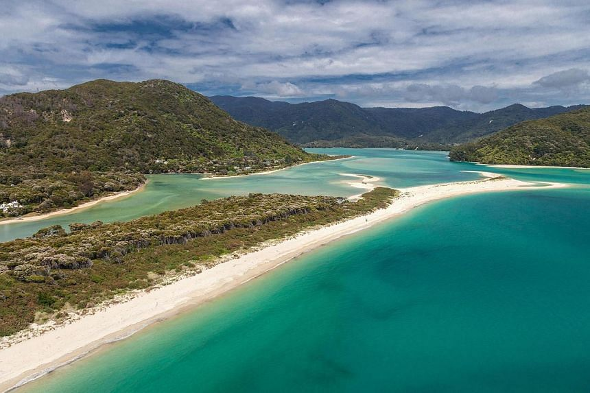 This undated handout file photo shows Awaroa beach at Awaroa inlet, an 800-metre stretch of golden sand adjoining the Abel Tasman National Park at the top of New Zealand's South Island.