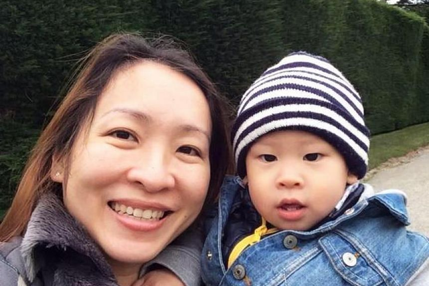 Ms Glynisia Yeo and her son.