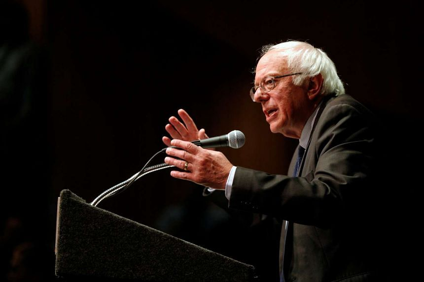 US Democratic presidential candidate Bernie Sanders speaks at a campaign stop in Albany, New York, on June 24, 2016.
