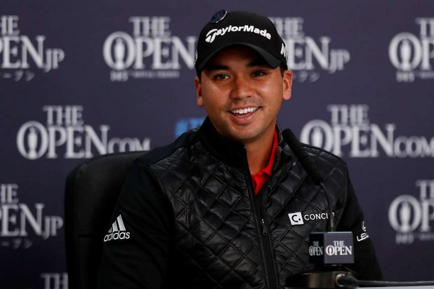 Jason Day smiles during a news conference, on July 11, 2016.
