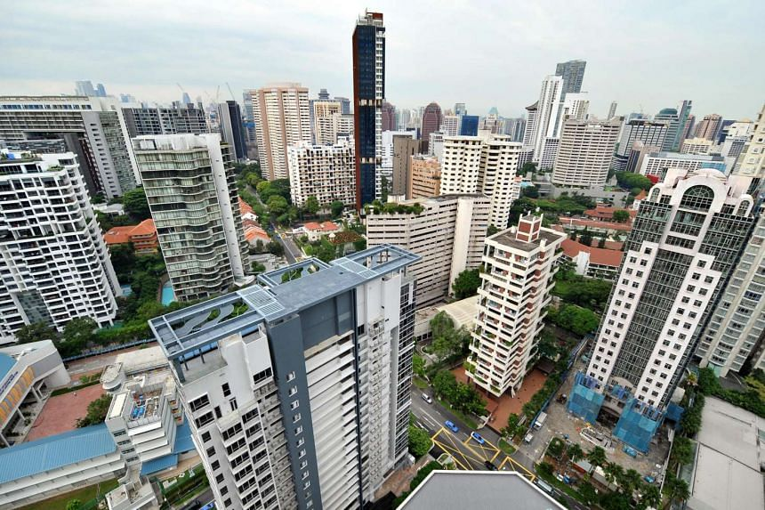 High-rise condominiums in the Scotts Road and Cairnhill area.