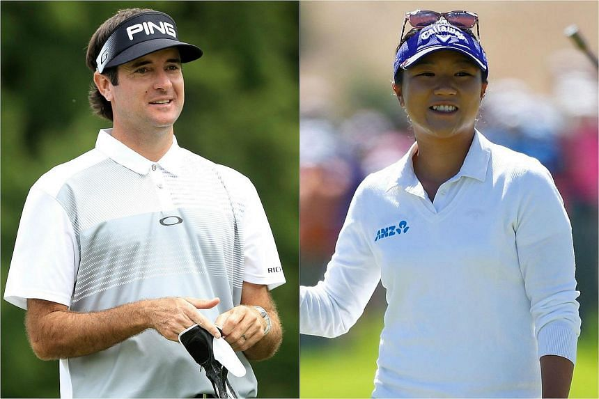Bubba Watson (left) and Lydia Ko will head the Olympics men's and women's golf field.