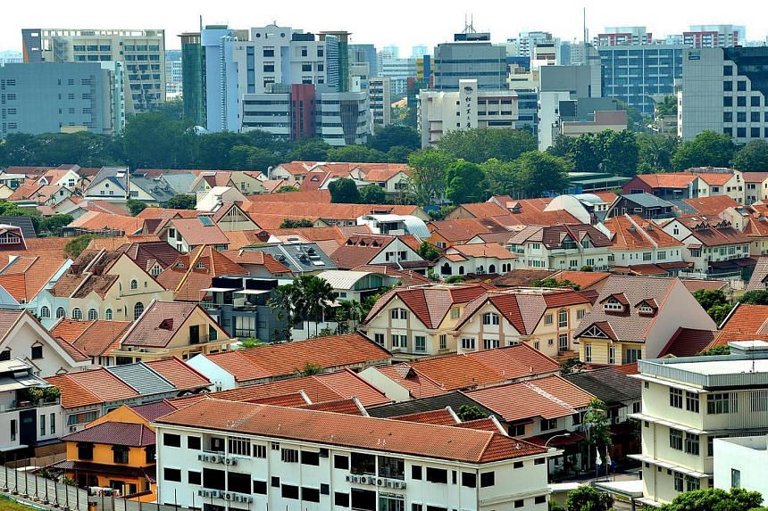 Aerial view of private housing in Potong Pasir on April 7.