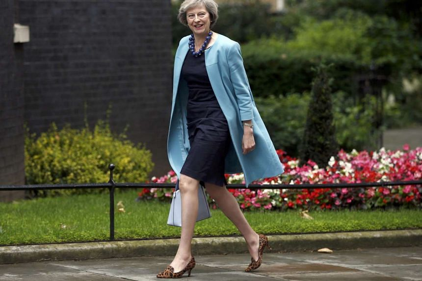British Home Secretary Theresa May arriving in Downing Street in central London on June 27, 2016.