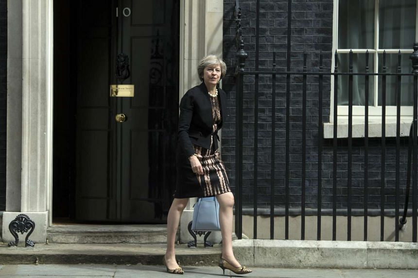 British Home Secretary Theresa May leaving Downing Street after attending a Cabinet meeting in London on July 5, 2016.