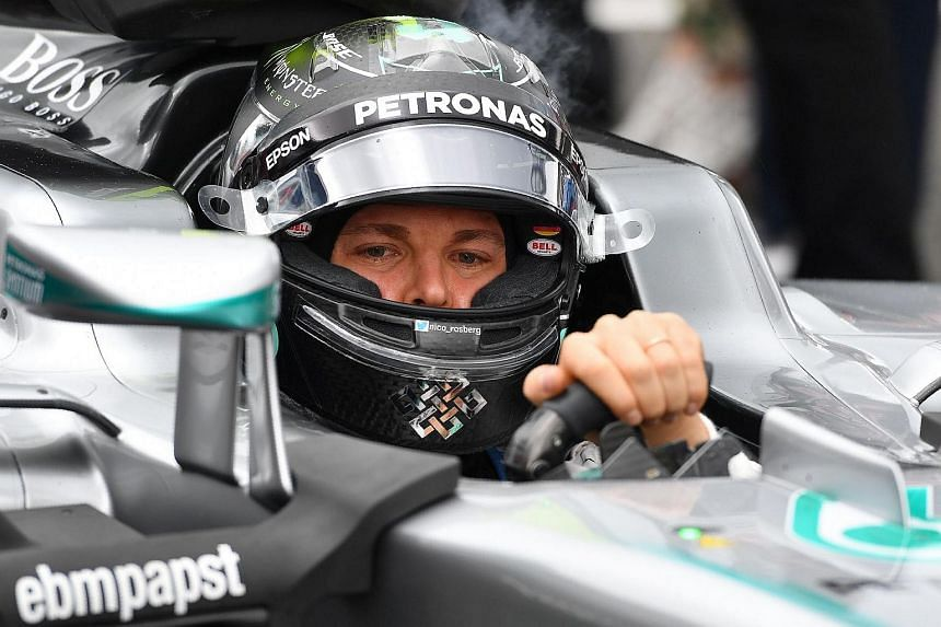 Mercedes' Nico Rosberg at the British Formula One Grand Prix in Silverstone, England, on July 10.