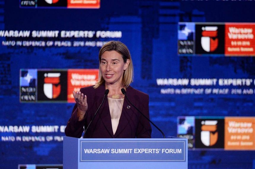 European Union foreign policy chief Federica Mogherini has said that the EU does not take a stance on sovereignty in South China Sea.