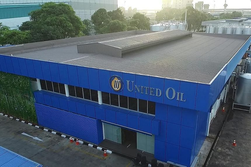 United Global's lubricant blending facility.