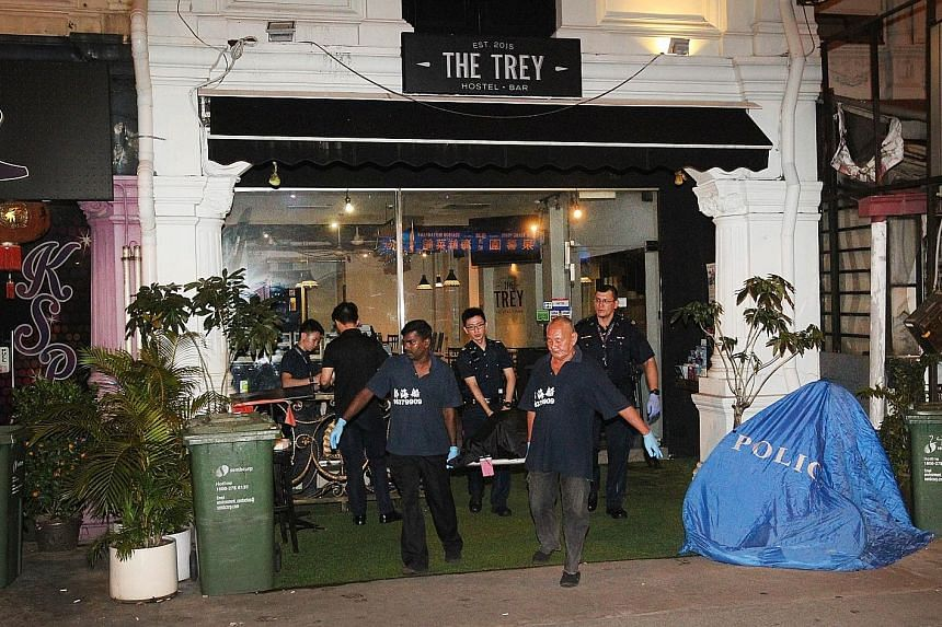 A 42-year-old man died after being stabbed outside a Jalan Besar pub on Monday night, in a case that has been classified as murder. Witnesses said Mr Chua Meng Guan had challenged his assailant to a fight before a scuffle broke out outside the pub an