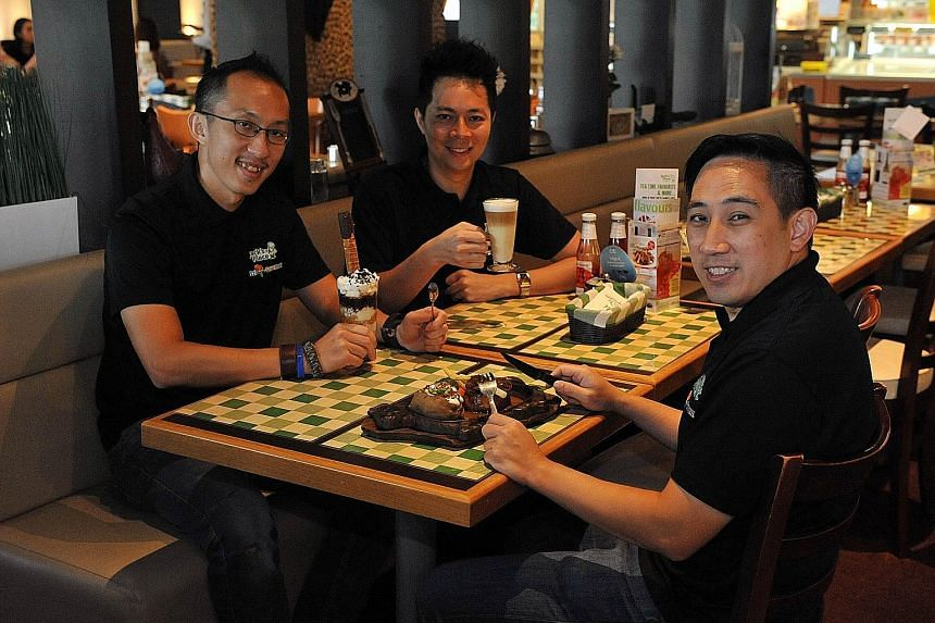 Cousins (clockwise from left) Alvin Say, Jerry Lim and Jason Ong - grandchildren of Jack's Place founder Say Lip Hai - are set to take the restaurant chain on its next lap. Its plans to go regional will start next year in countries like Vietnam and M