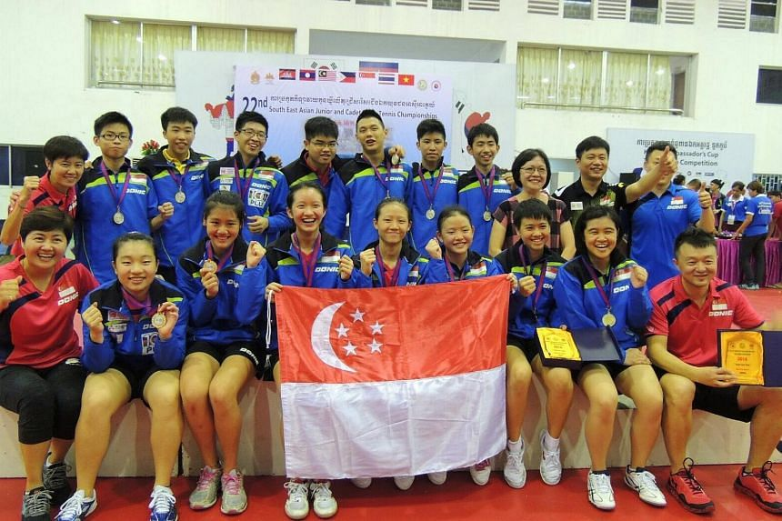 Singapore delivered a clean sweep of the team events for the first time as part of a golden haul at this year's South East Asian Junior & Cadet Table Tennis Championships.