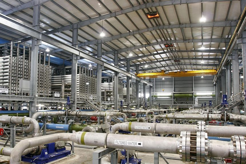 Singapore's first desalination plant, the $200m SingSpring plant at Tuas.