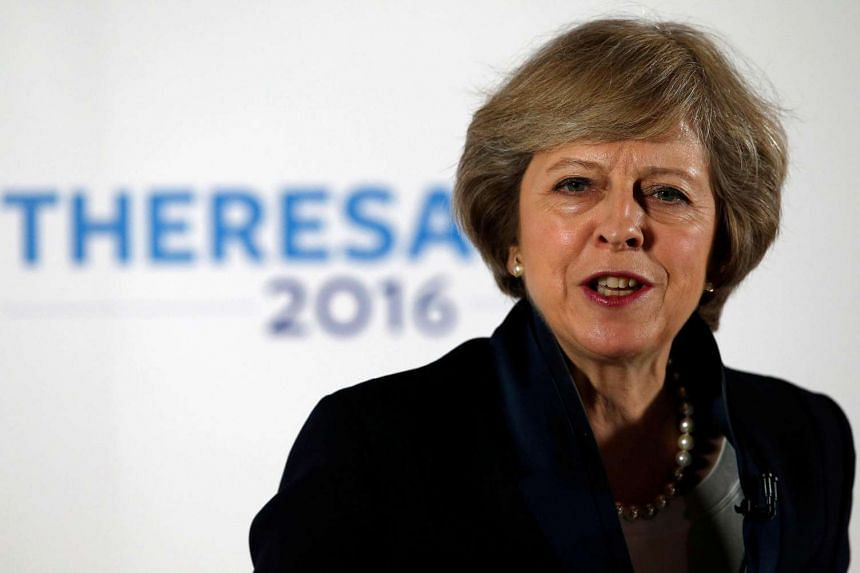 UK's new PM Theresa May speaks during her Conservative party leadership campaign at the Institute of Engineering and Technology in Birmingham, UK on July 11, 2016.