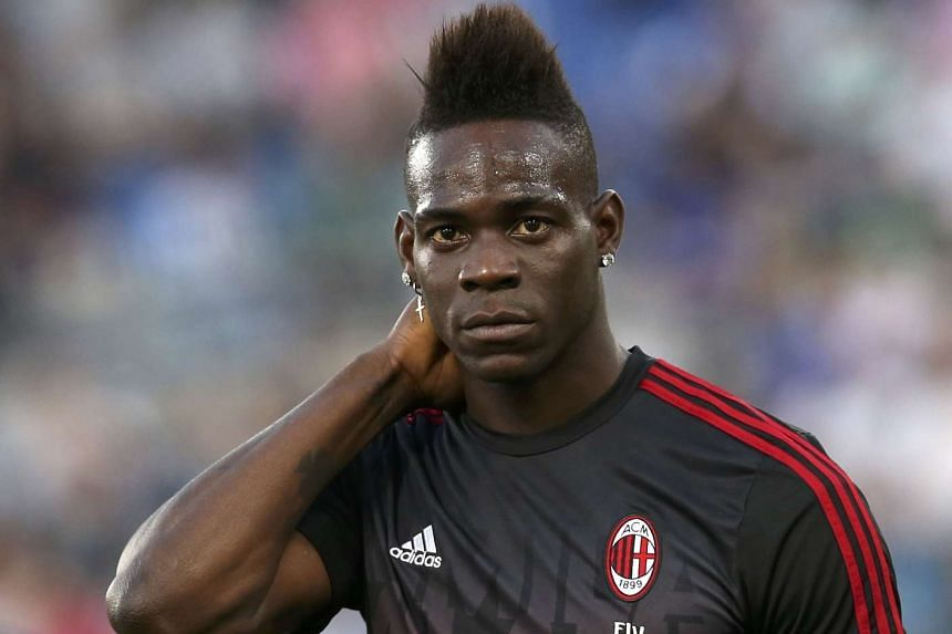 AC Milan's Mario Balotelli looks on before the match against Juventus on May 21, 2016.