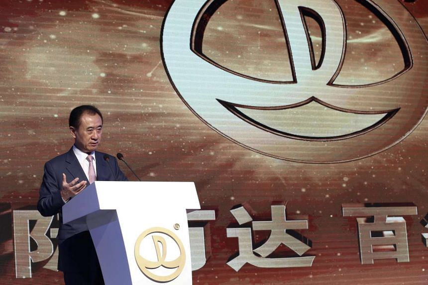 Wanda Group chairman Wang Jianlin speaking during the announcement ceremony for the China Cup, at the Sofitel Hotel in Beijing on July 13, 2016.