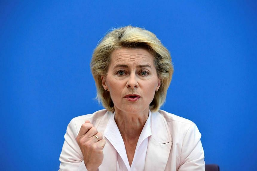 German Defence Minister Ursula von der Leyen presents the new military roadmap in Berlin on Wednesday (July 13).