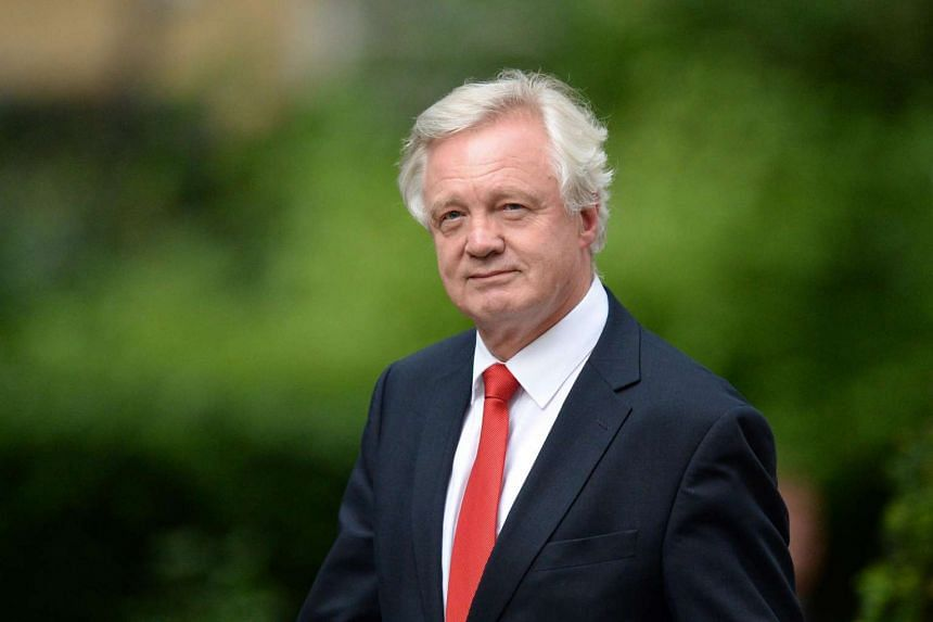 David Davis arrives at 10 Downing Street in central London, on July 13, 2016, after new British Prime Minister Theresa May took office.