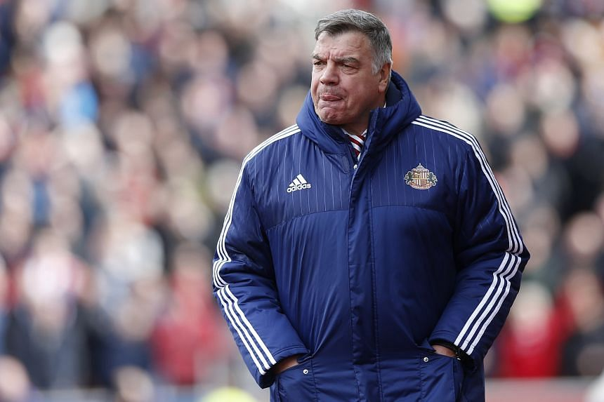 Sunderland manager Sam Allardyce reacts during the English Premier League football match between Stoke City and Sunderland.