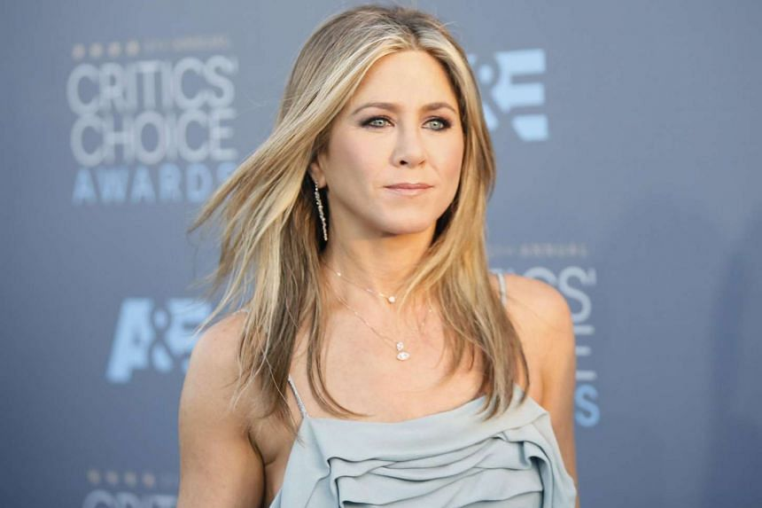 Actress Jennifer Aniston at the 21st Annual Critics' Choice Awards in Santa Monica on Jan 17.