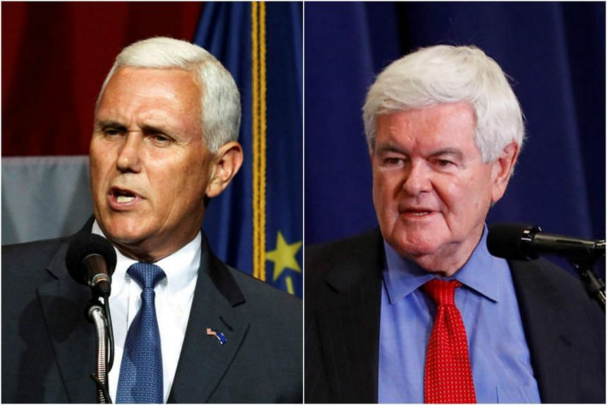 Indiana Governor Mike Pence (left) and former US House Speaker Newt Gingrich are the most likely choices for the vice-presidency under Donald Trump.