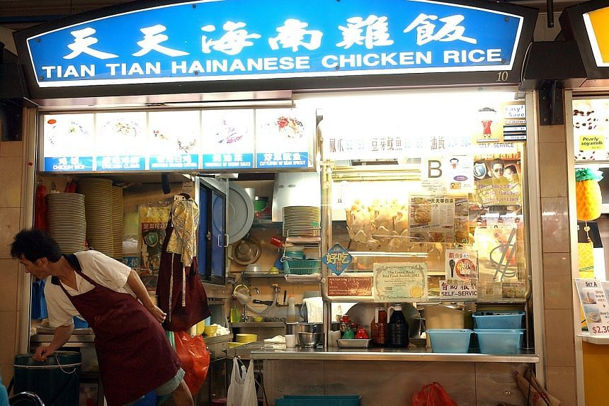 Tian Tian Chicken Rice at Maxwell Road Food Centre is one of 17 hawker stalls that have been given the Bib Gourmand award in the Singapore Michelin Guide.