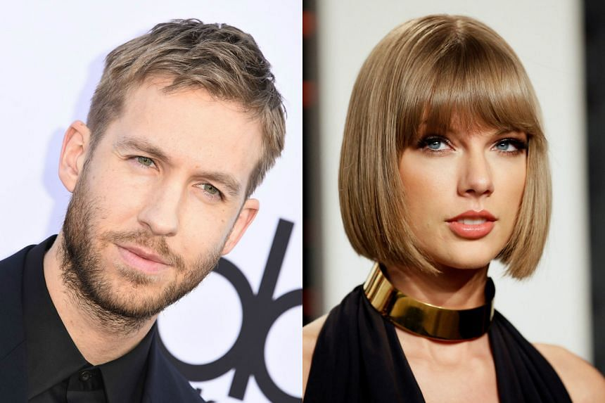 DJ and producer Calvin Harris (left) and pop star Taylor Swift.