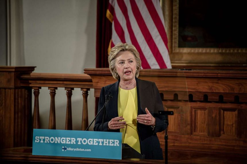 Democratic Presidential candidate Hillary Clinton speaks at the Old State House, on July 13, 2016, in Springfield, Illinois.