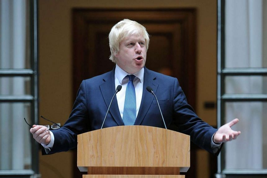 Newly appointed Foreign Secretary Boris Johnson addresses staff inside the Foreign and Commonwealth Office (FCO) in central London on July 14, 2016.