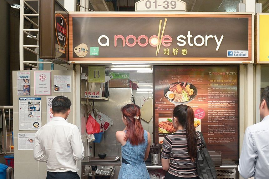 A Noodle Story at Amoy Street Food Centre.