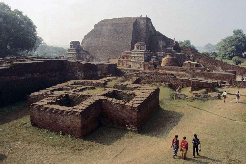 The ruins of the Nalanda University in Bihar, India.