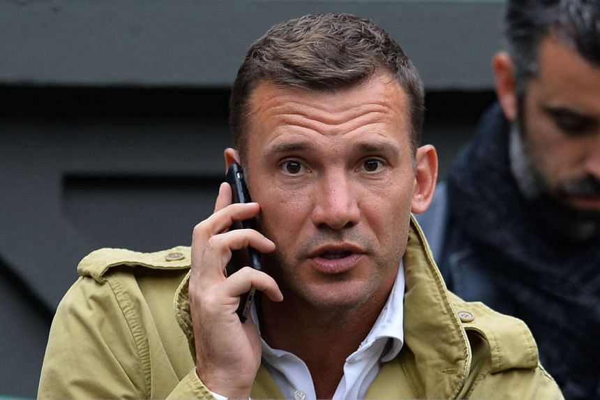 Ukraine's former striker Andriy Shevchenko (pictured) was appointed national team manager to replace Mykhailo Fomenko.