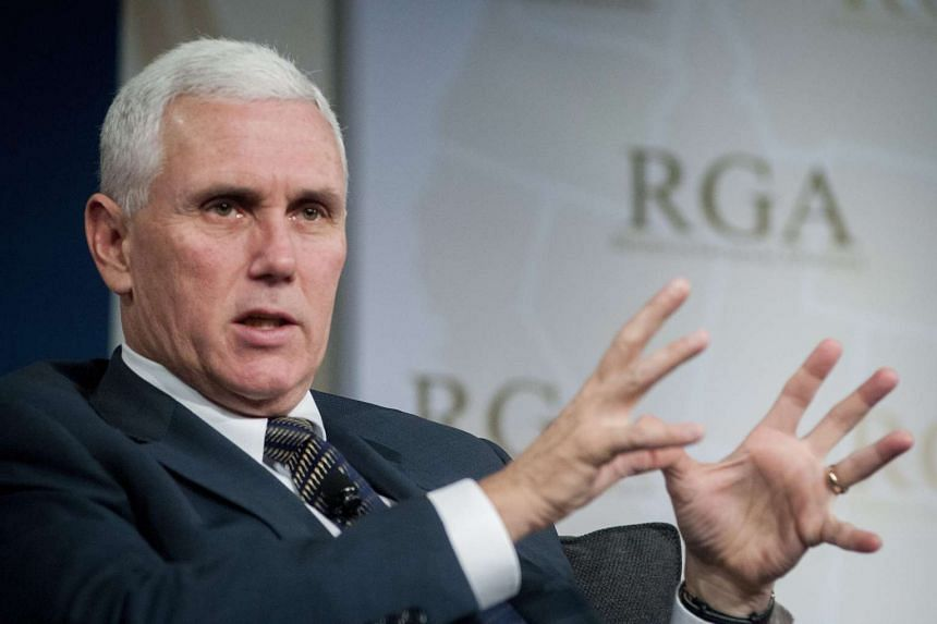 Mike Pence at a technology discussion at the Republican Governors' Association meetings in Phoenix, Arizona, on Nov 21, 2013.