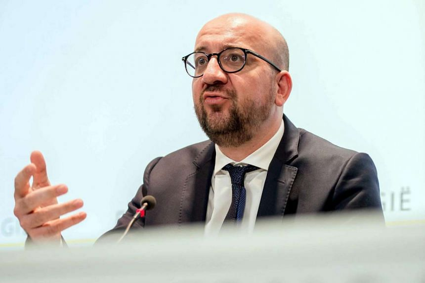 Belgian Prime Minister Charles Michel at a press conference after an extraordinary State National Security Councilium in Brussels, Belgium, on July 15, 2016.