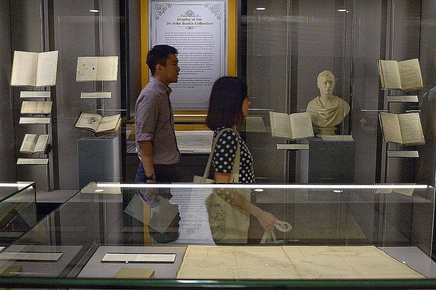 The 38 items on display are part of the John Bastin Collection and can be viewed on the 13th floor of the NLB building.