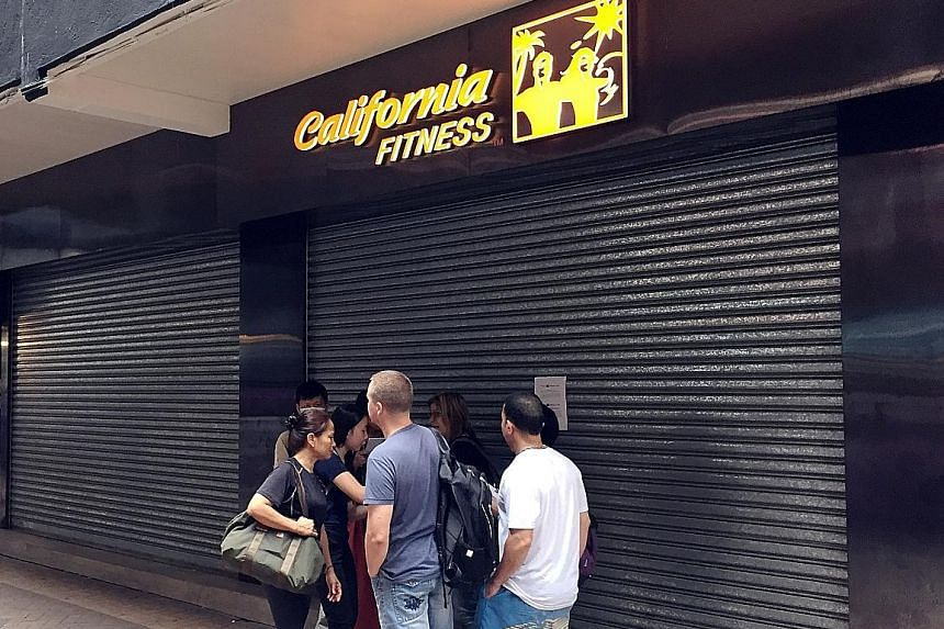 JV Fitness closed all 12 of its gyms on Tuesday. Hong Kong's consumer watchdog has received more than 100 complaints from gym members regarding termination of contracts in the last week.