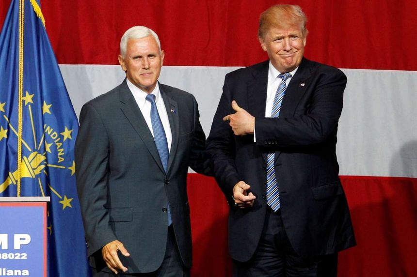Republican presidential candidate Donald Trump (right) is likely to pick either Indiana Governor Mike Pence (left) orformer House speaker Newt Gingrich as his running mate.