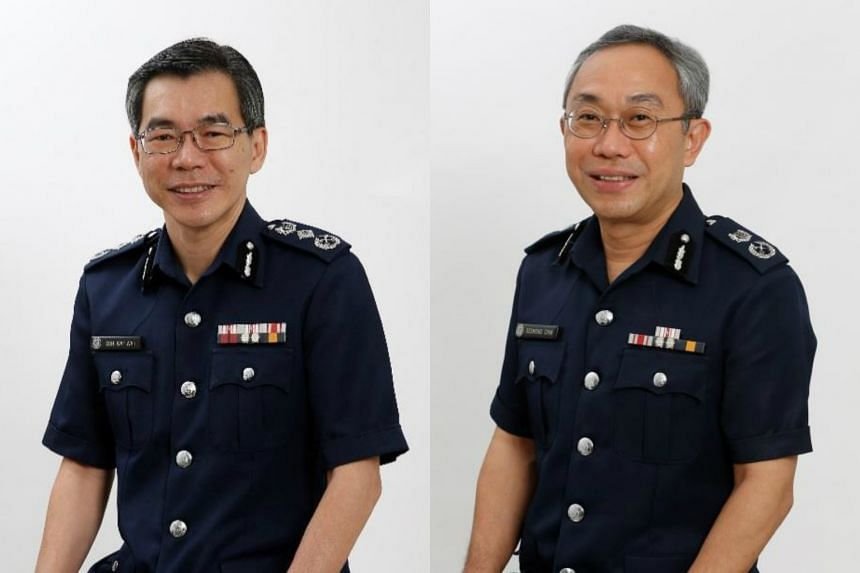 Mr Desmond Chin Kim Tham (right) will take over from incumbent Mr Soh Wai Wah as Commissioner of Prisons.