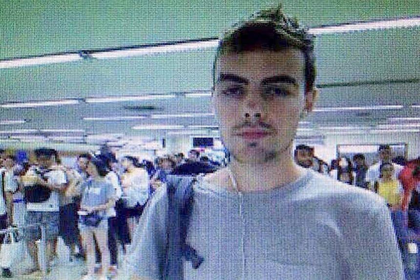 David James Roach, 27, at Don Muang Airport in Bangkok on July 7, 2016.