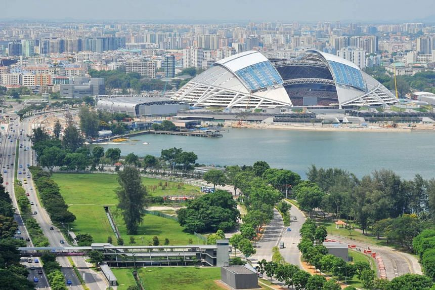 The Singapore Sports Hub and Nicoll Highway.