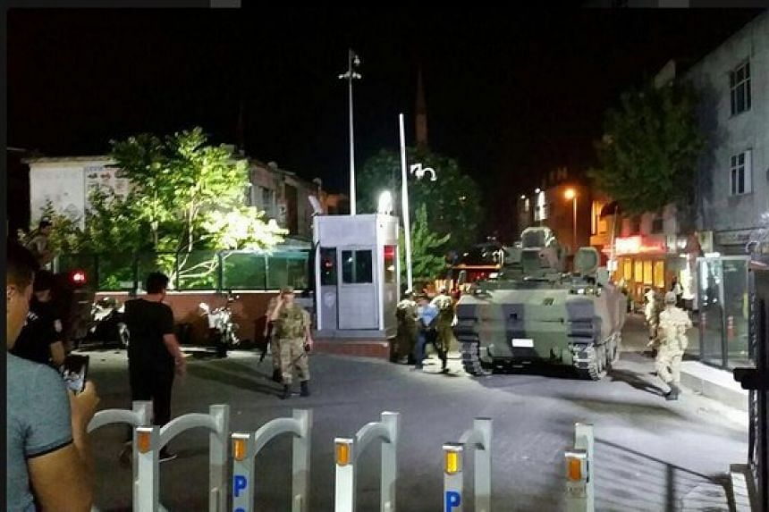 Tanks and soldiers have been seen on the streets of Istanbul and Ankara.
