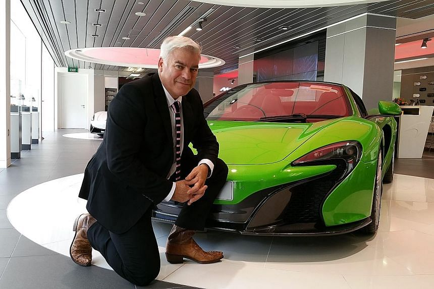 McLaren Automotive director of design Frank Stephenson with the 650S convertible. He was in Singapore for a design forum this week.
