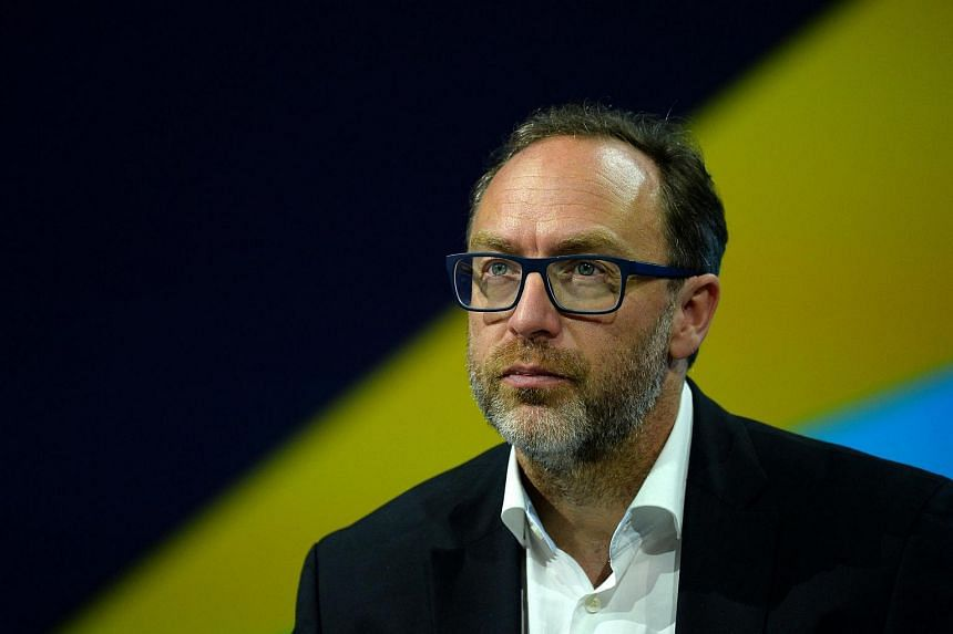 Jimmy Wales, co-founder of Wikipedia attends the Viva Technology event in Paris.